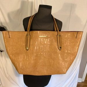 Steve Madden B Joy logo tote with attached pouch